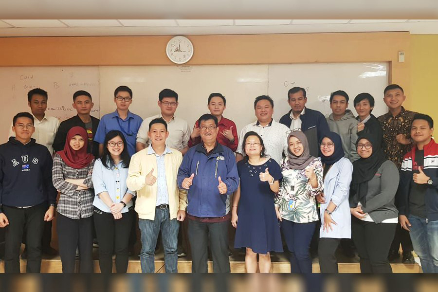 Our photo together with graduate program of Information Systems students at Bina Nusantara Anggrek University. Thank you !