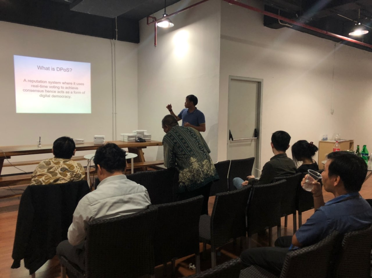 Hafis - DPoS as speaker at TGIF event 7 December 2018